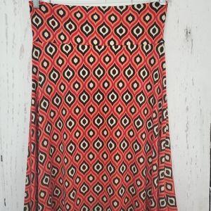 LulaRoe Azure / A-Line Skirt Size L